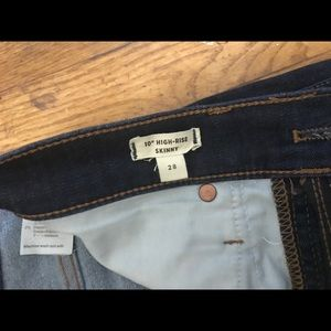 """Madewell Jeans - 10"""" High-Rise Skinny Jeans in Tarren Wash Size 28"""